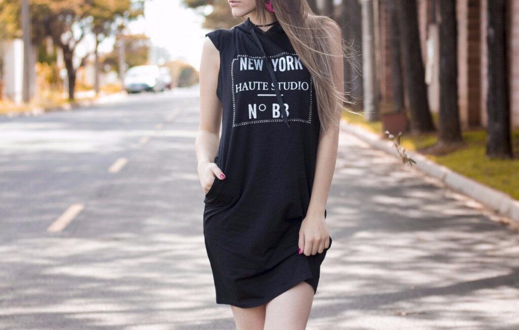 simpel sort kjole